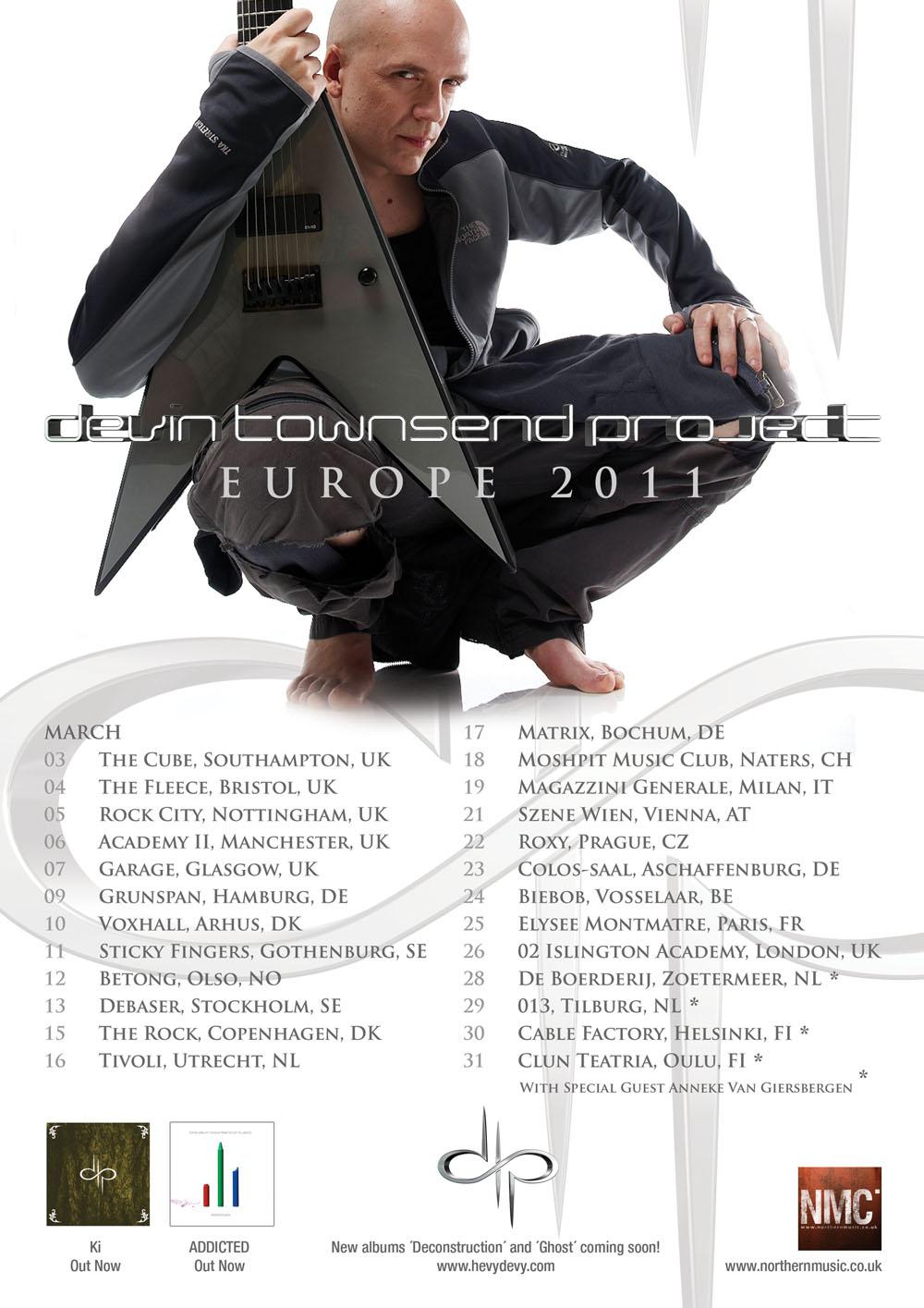 Devin Townsend Project @ Roxy Club (Prague, République Tchèque), le 22 Mars 2011