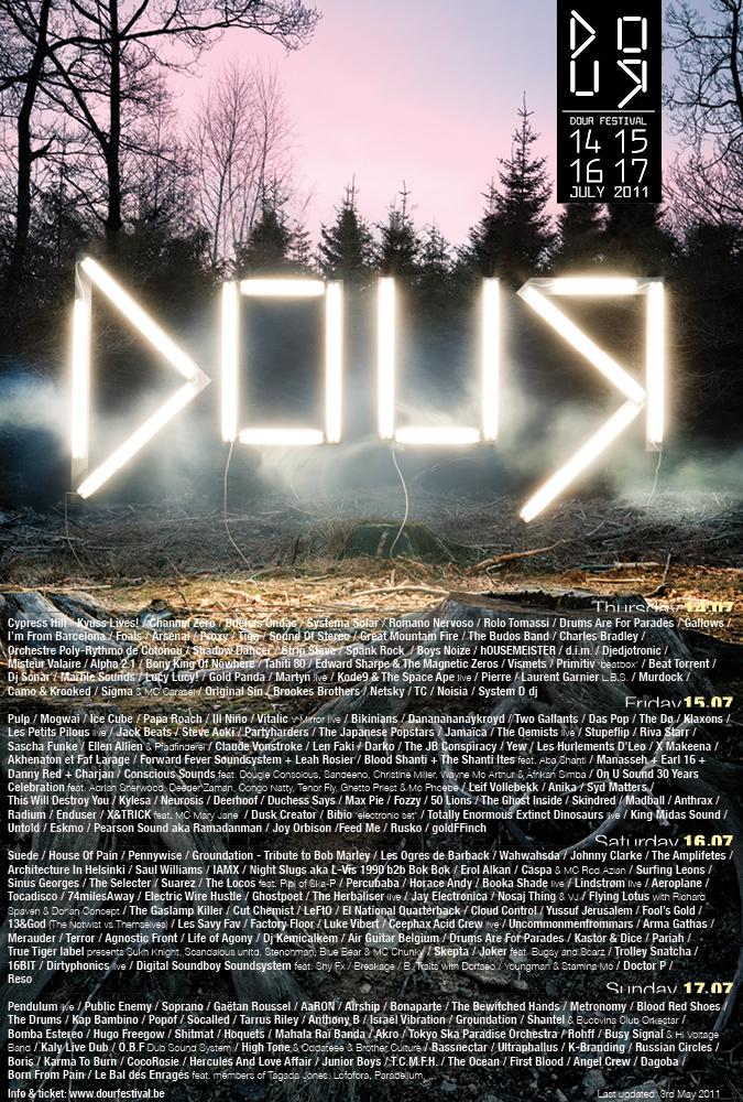 Dour Festival 2011 @ Dour (Belgique), du 14 au 17 Juillet 2011