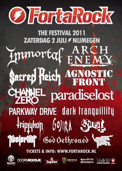 Fortarock Festival 2011 @ Nijmegen (Pays-Bas), le 02 Juillet 2011