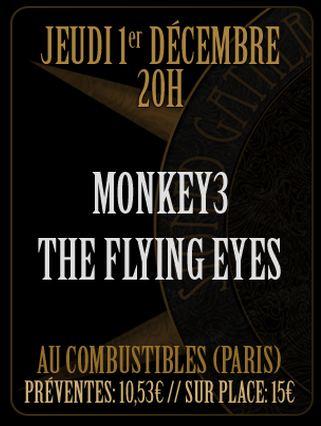 Monkey3 @ Combustibles (Paris), le 01 Décembre 2011