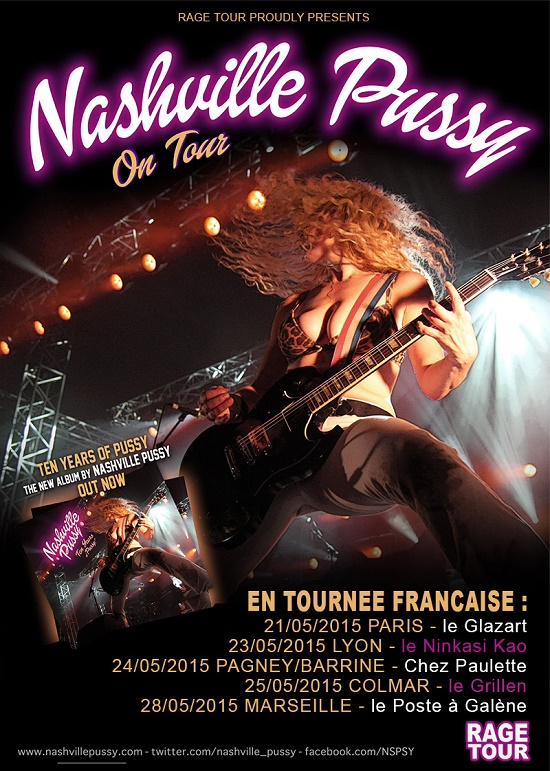 Nashville Pussy + The Admiral Sir Cloudesley Shovell + Wizzo @ Glazart (Paris), le 21 Mai 2015