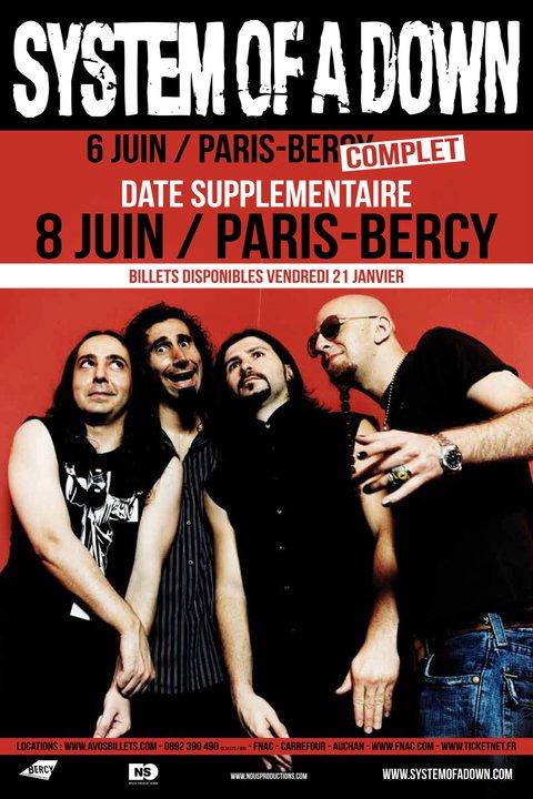 System Of A Down + Clutch @ Bercy (Paris), le 08 Juin 2011