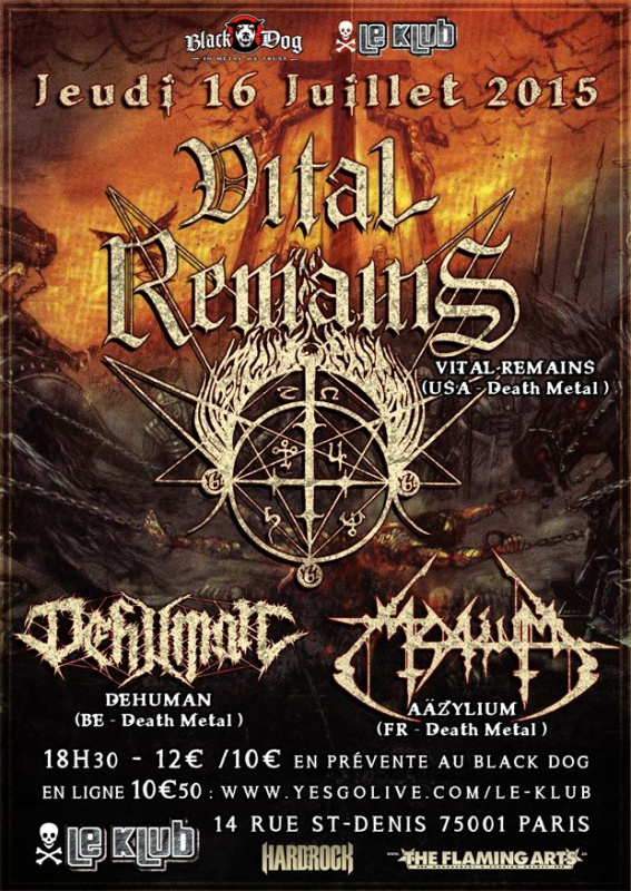Vital Remains @ Klub (Paris), le 16 Juillet 2015