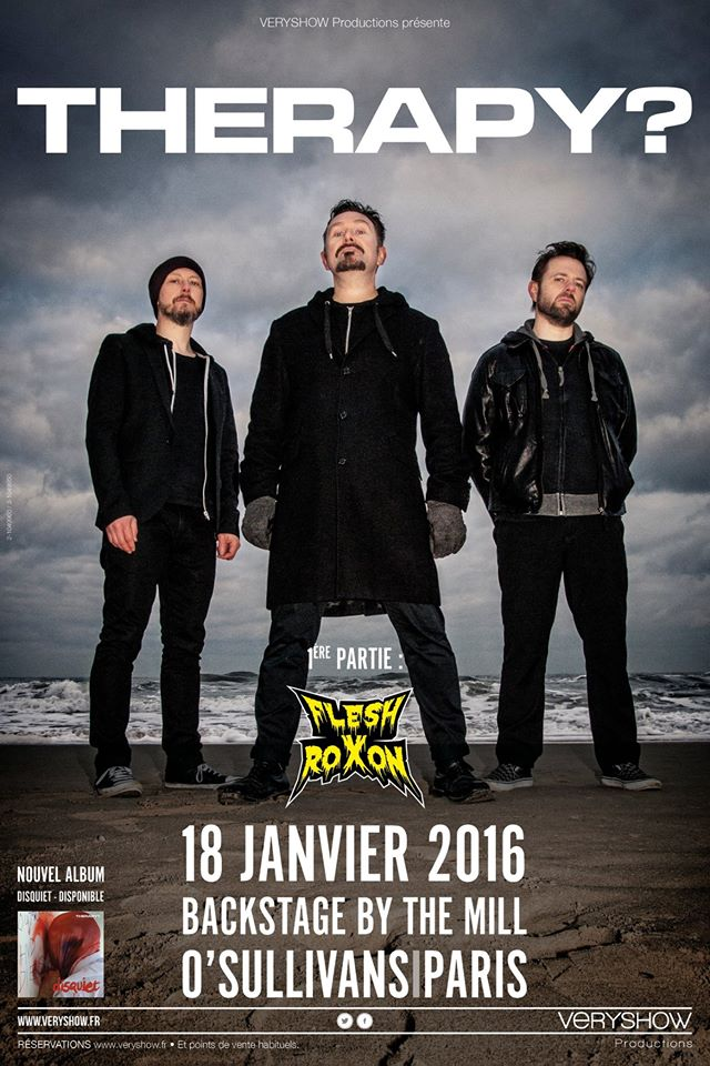 Therapy? @ Backstage By The Mill (Paris), le 18 Janvier 2016