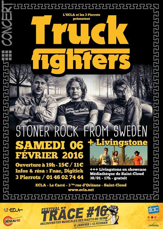 Truckfighters @ ECLA (Saint Cloud), le 6 Février 2016
