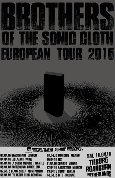 Brothers of the Sonic Cloth + Behold! The Monolith + CHRCH @ Glazart (Paris), le 4 Avril 2016