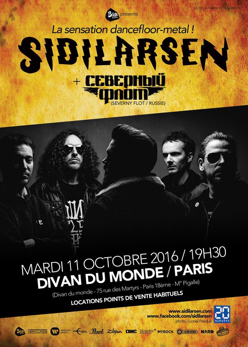 Sidilarsen + Severny Flot @ Divan Du Monde (Paris), le 11 Octobre 2016