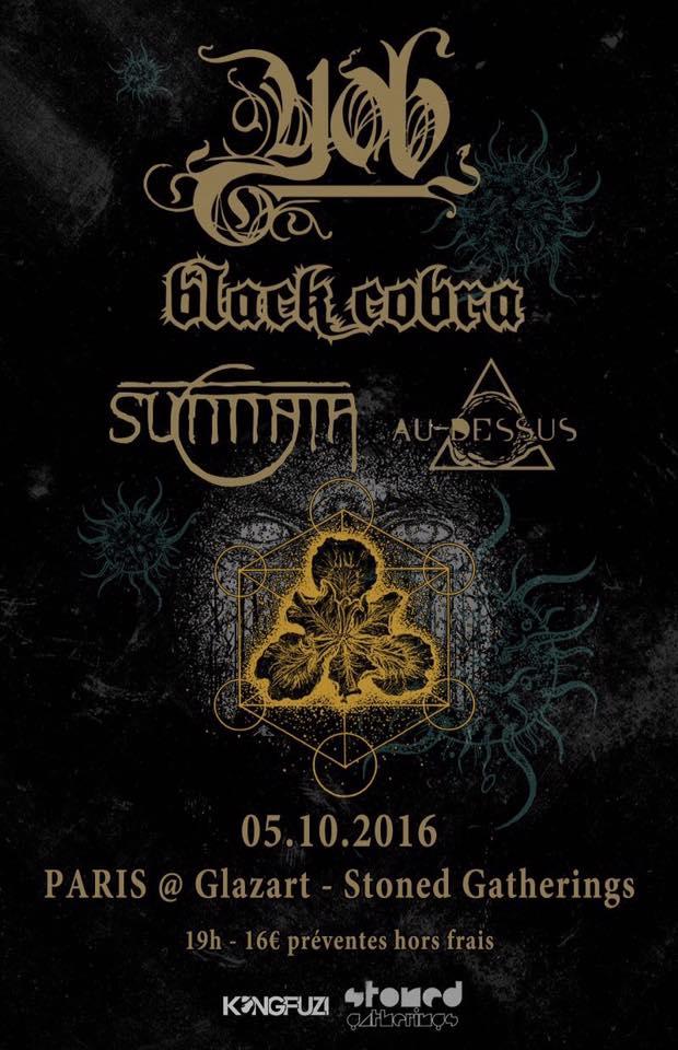 Yob + Black Cobra + Sunnata + Au Dessus @ Glazart (Paris), le 5 Octobre 2016