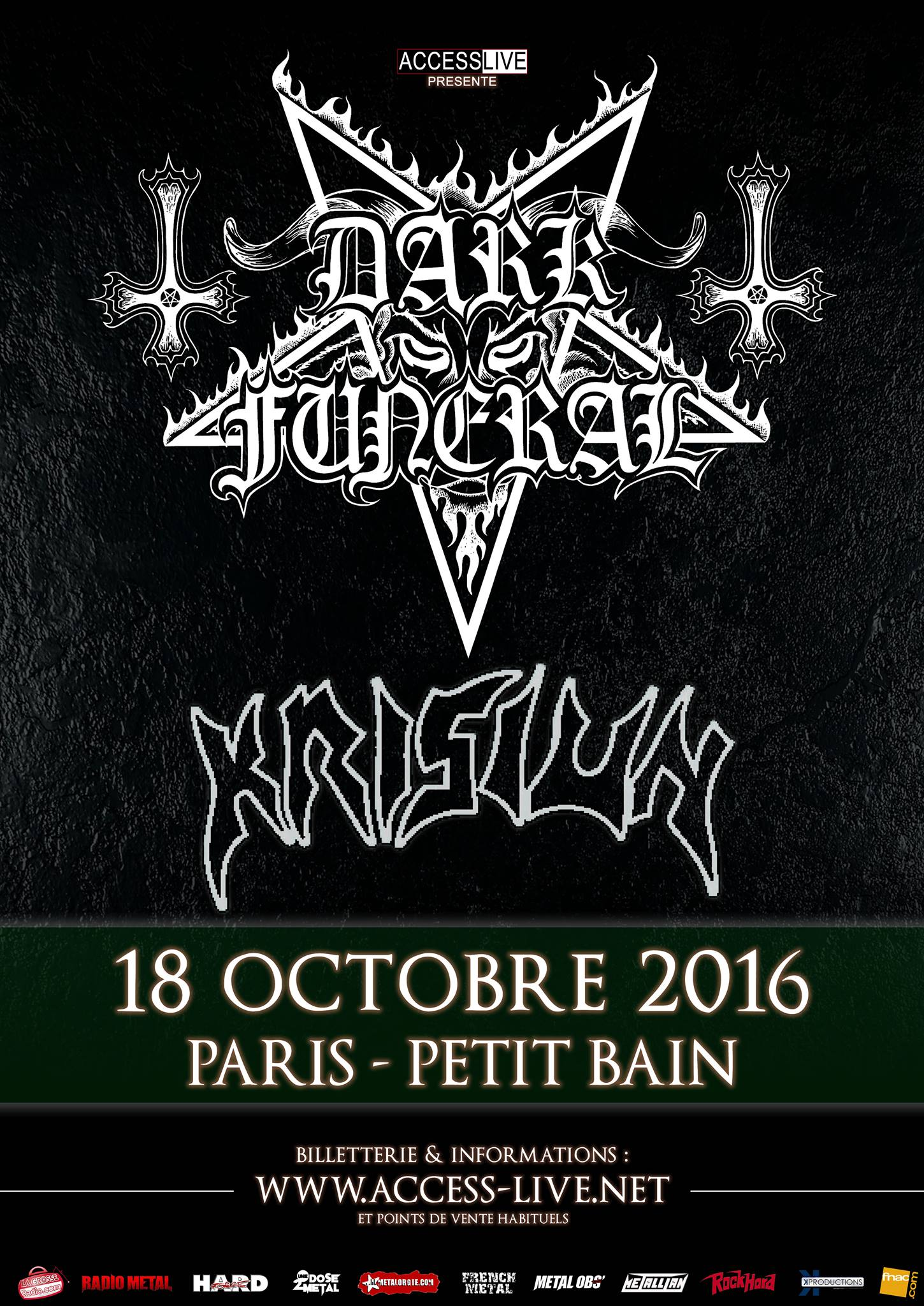 Dark Funeral + Krisiun @ Petit Bain (Paris), le 18 Octobre