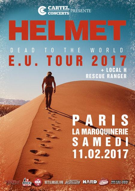 Helmet + Local H + Rescue Rangers @ La Maroquinerie (Paris), le 11 Février 2017