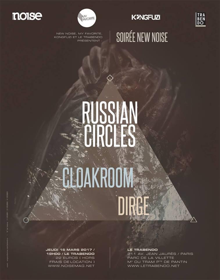Russian Circles + Cloakroom @ Trabendo (Paris), le 16 Mars 2017