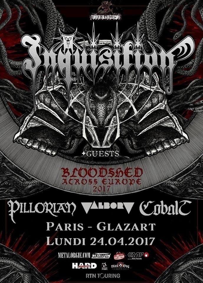Inquisition @ Glazart (Paris), le 24 Avril 2017