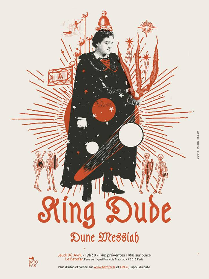 King Dude + Dune Messiah @ Batofar (Paris), le 6 Avril 2017