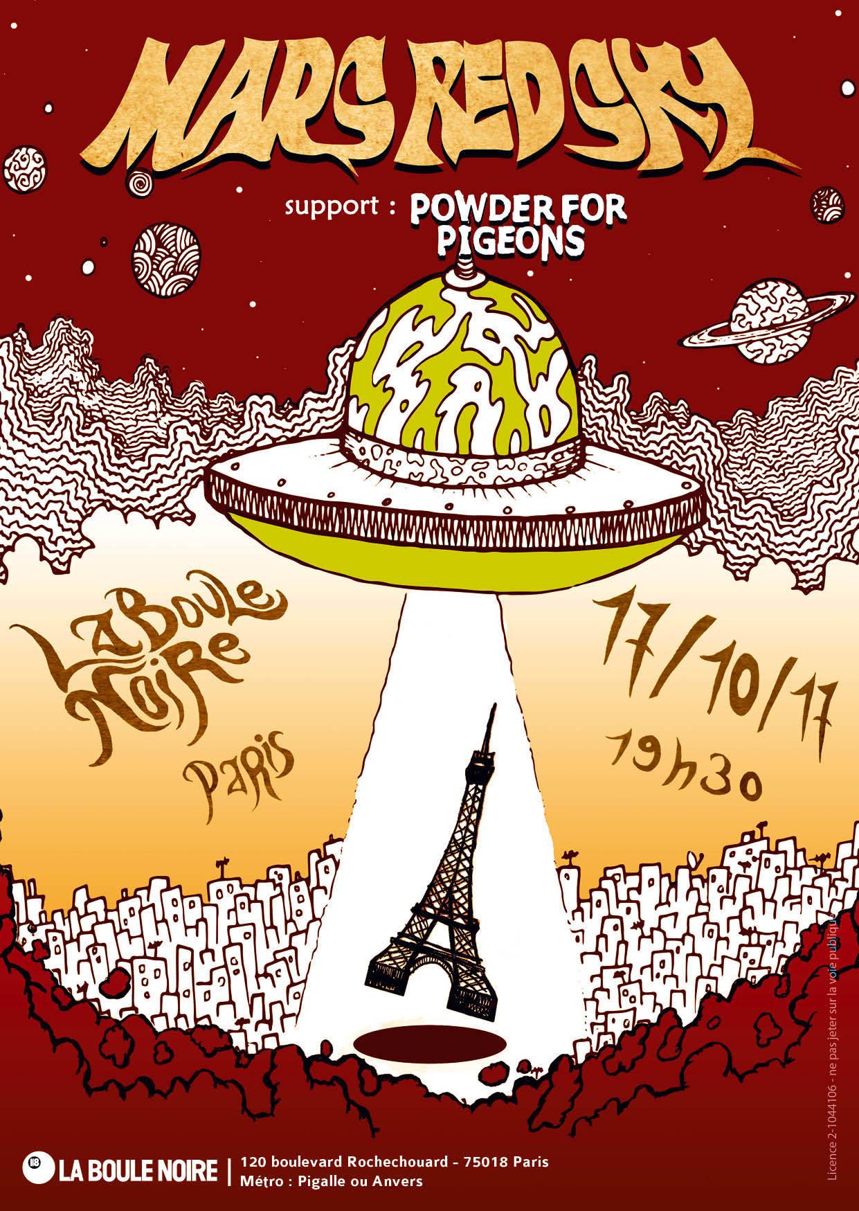 Mars Red Sky + Powder For Pigeons @ Boule Noire (Paris), le 17 Octobre 2017