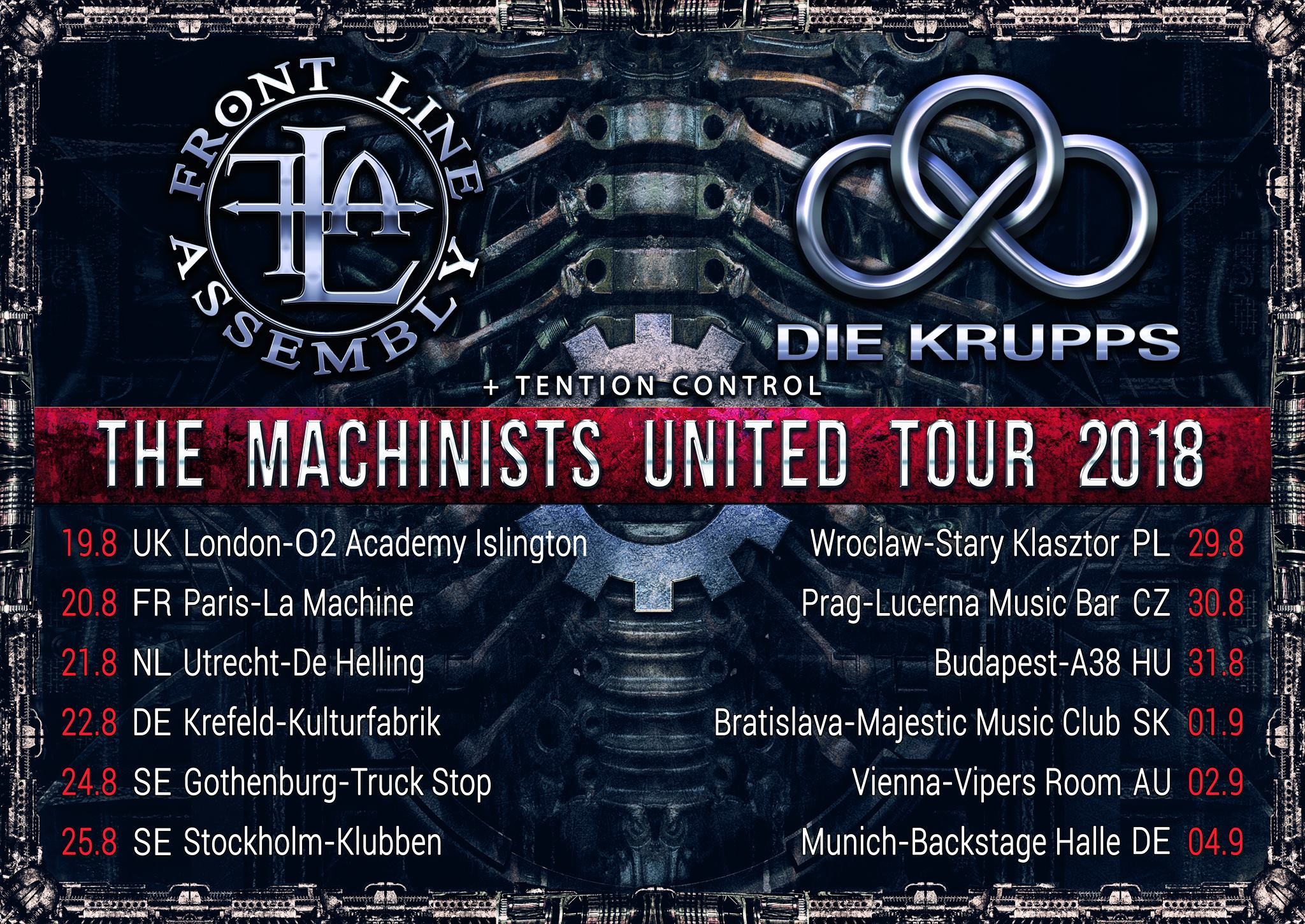Die Krupps + Front Line Assembly @ La Machine du Moulin Rouge (Paris), le 20 Août 2018