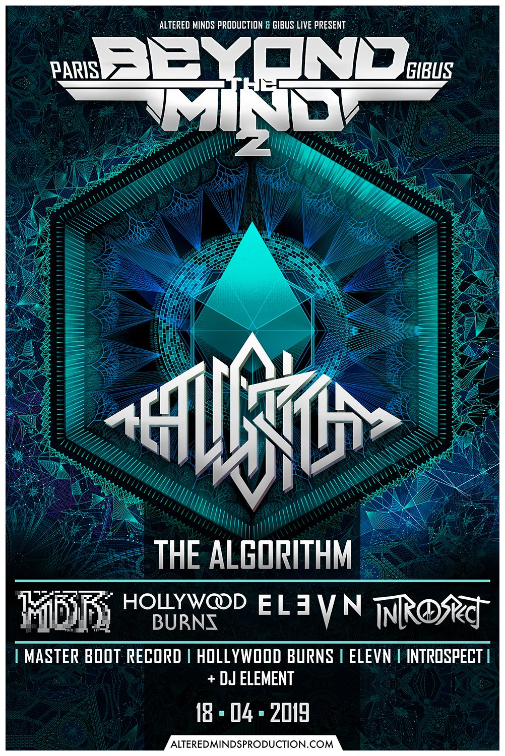 The Algorithm + Master Boot Record @ Gibus (Paris), le 18 Avril 2019