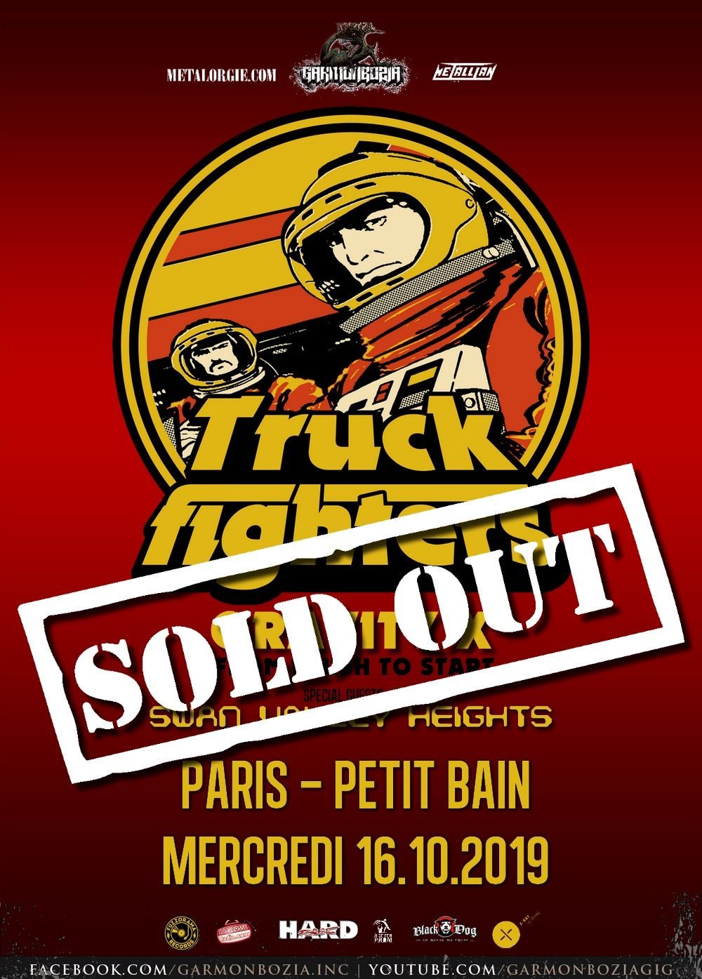 Truckfighters + Swan Valley Heights @ Petit Bain (Paris), le 16 Octobre 2019