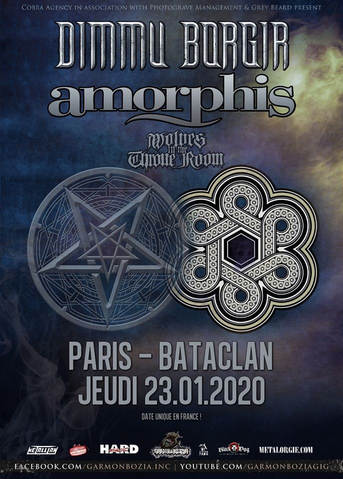 Dimmu Borgir + Amorphis + Wolves In The Throne Room @ Bataclan (Paris) le 23 Janvier 2020