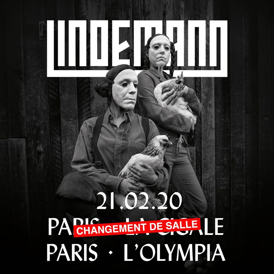Lindemann + Aesthetic Perfection @ l'Olympia (Paris), le 21 Février 2020